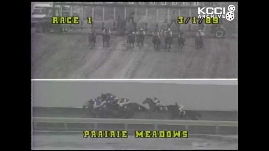 KCCI Archive: Prairie Meadows hosts first horse race