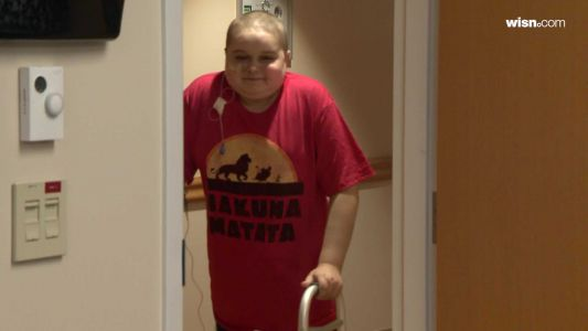 Boy meets blood donors who helped keep him alive