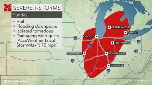 Tornados, Large Hail and Thunderstorms to Hit Parts of Central US