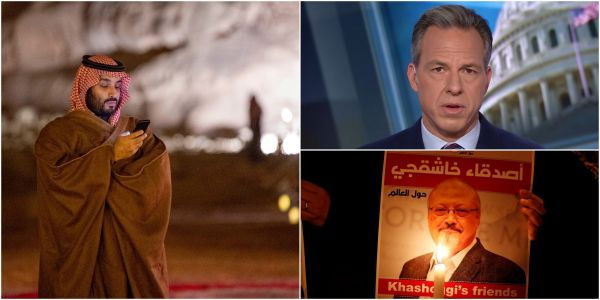 CNN anchor Jake Tapper trolled the Saudi government, saying Jamal Khashoggi could have investigated the reported Jeff Bezos phone hack 'but you killed him'