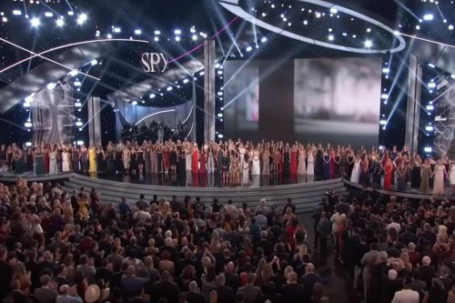 More than 100 Nassar victims take the stage in emotional ESPYs moment