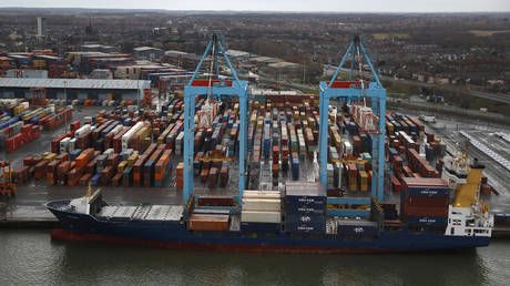Global shipping chaos to last 'for another 18 months,' as UK port works 'flat out' to clear congestion, shipping firm warns