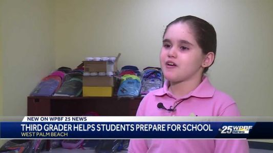 'She's passionate about serving others': Third grader helps students prepare for school