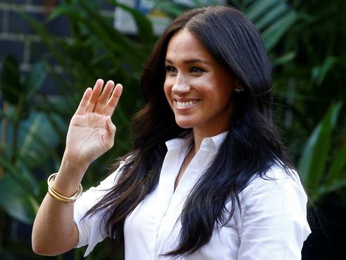 Meghan Markle wore a chic $125 button-up shirt from her new clothing line for her first royal engagement since giving birth