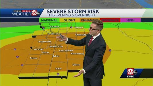 BE WEATHER AWARE: Severe storms, including large hail, possible Friday night