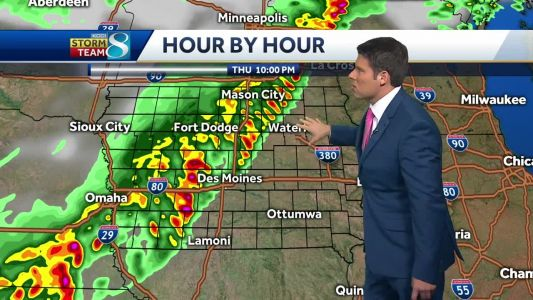 Line of incoming storms follows cold front through the state