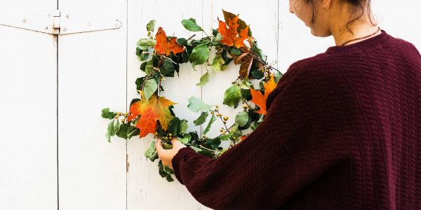 This pumpkin spice wreath is the picture of fall perfection