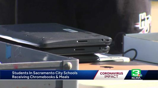 Sac City students receive Chromebooks as schools transition to distance learning