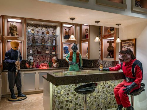 A $26.5 million LA mansion with an elaborate 'Star Wars'-themed basement - including an homage to the cantina scene - just hit the market. Here's a look inside