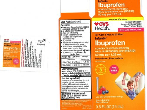 Infant ibuprofen recall expanded to include 3 additional lots sold under CVS and Walmart brands
