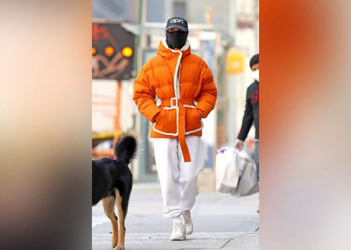 Emily Ratajkowski shows off her posh pandemic gear on a dog walk in NYC