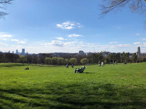 Nice weather brings people to parks, stores - safe social distancing practices in use