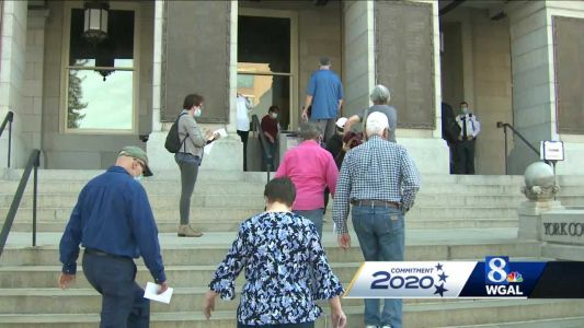 Long lines in York County as voters cast mail-in ballots