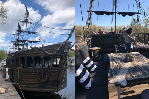Pirate ship on the Mississippi River rents for $300 on Airbnb