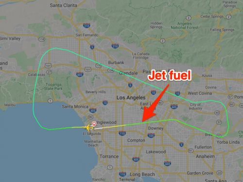 A plane returning to LAX dumped jet fuel on an elementary school below it