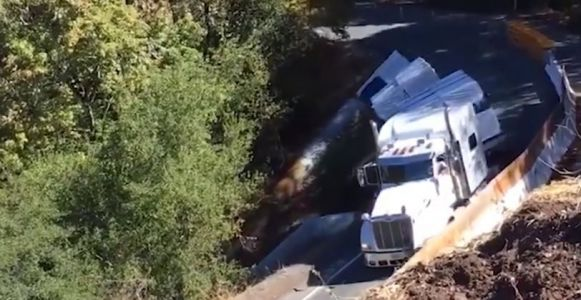 Shocking video: Truck topples down cliff after driver ignored warnings