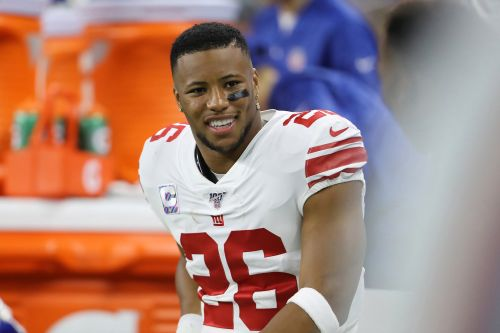Saquon Barkley meets young Giants fan who was snubbed by Demarcus Lawrence