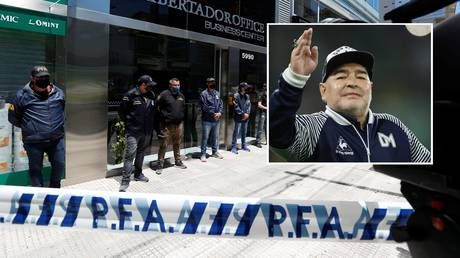 Diego Maradona doctor 'investigated for involuntary manslaughter' as Argentine police raid home and office
