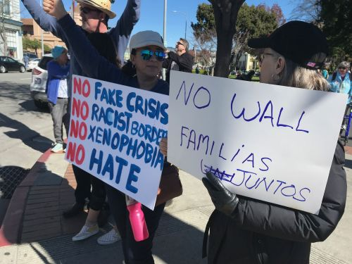 Rally held in Watsonville to protest national emergency declaration