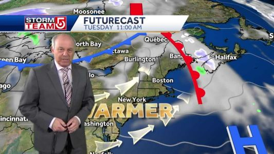 Video: Milder air to make its way into New England