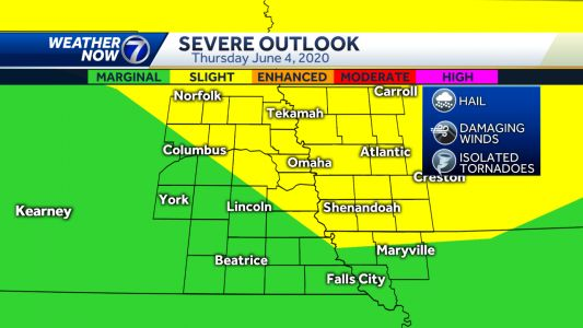 Damaging winds, large hail, isolated tornadoes possible Thursday night