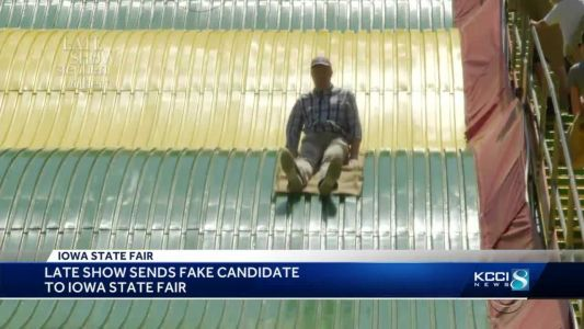 Stephen Colbert's fake candidate takes State Fair by storm