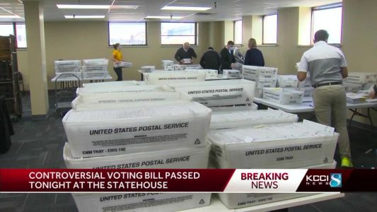 Gov. Reynolds signs measure shortening early, Election Day voting into law