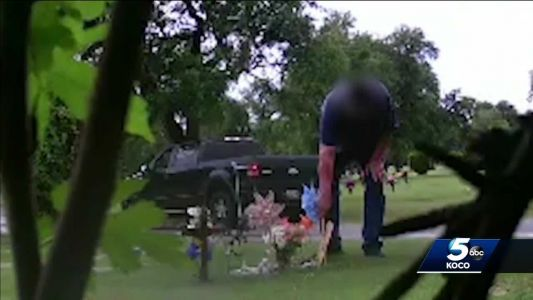 Thieves caught on camera taking items from infant's grave, family says