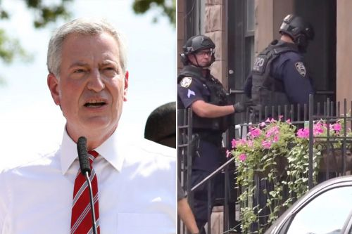 De Blasio defends NYPD decision to end standoff with BLM protester