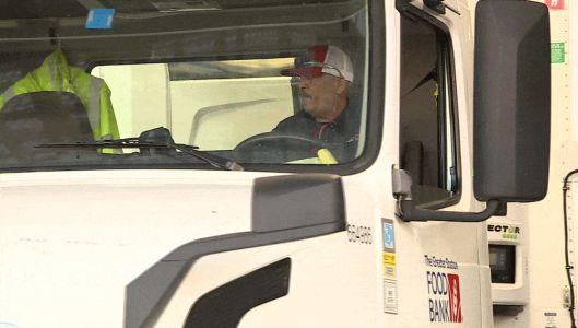 Man finds job, calling as truck driver for food bank