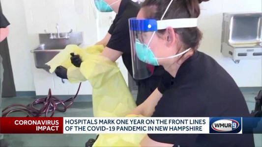 Hospitals mark 1 year on front lines of COVID-19 pandemic in NH