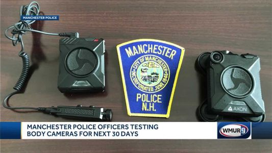 Manchester police officers testing body cameras