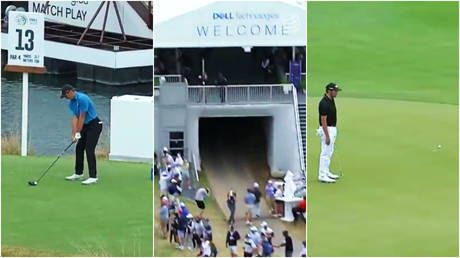 'One of us!': Fans react as former world No1 golfer Jordan Spieth hits 15th green with monster drive. from the 13th hole