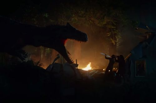 The 'Jurassic World' director just released a short film that takes place a year after the last movie and it shows dinosaurs on the loose