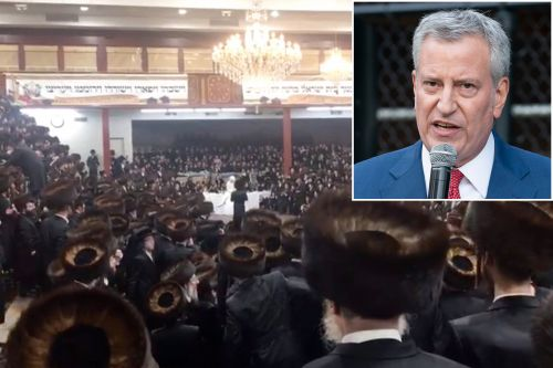De Blasio's reason for failing to stop huge Hasidic wedding: 'It's a big city'