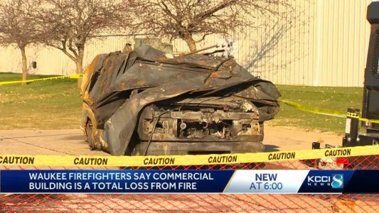 Waukee storage facility is a total loss after early morning fire
