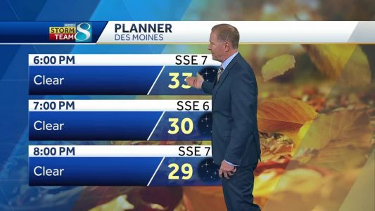 Crisp, cool night gives way to warm Thursday