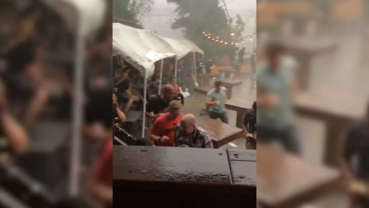 WATCH: Strong storm in Millvale left people running for cover at Grist House