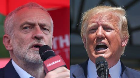 Corbyn slams Trump's 'go back' tweet as 'racist,' accuses BoJo & Hunt of pandering to US president