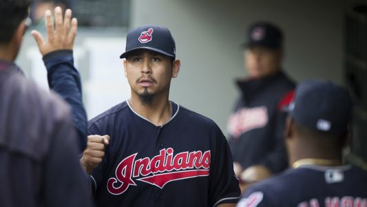 Indians pitcher Carlos Carrasco faces live hitters for first time since leukemia diagnosis