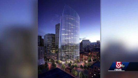 Groundbreaking ceremony for new office tower in downtown Boston
