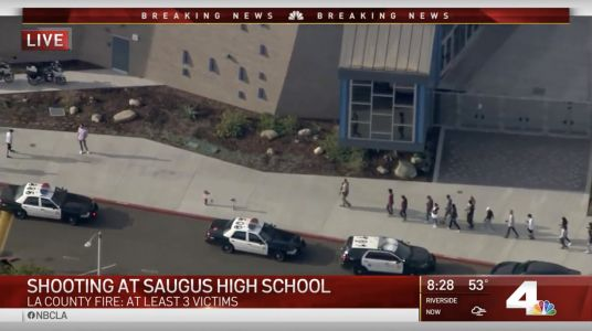 Multiple victims injured in California high school shooting; police are hunting for the gunman