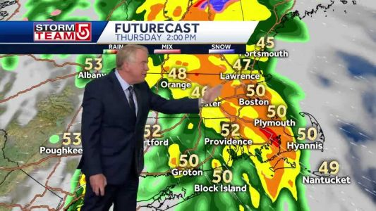 Video: Rain, thunderstorms from approaching system