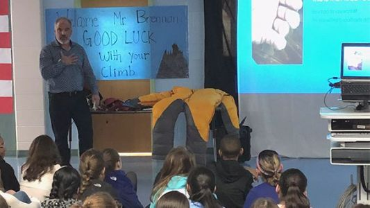 Students get educational, inspirational visit from mountain climber