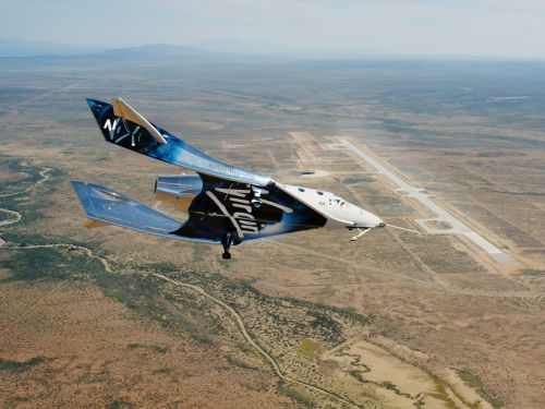 Virgin Galactic's SpaceShipTwo makes 1st glide flight over Spaceport America