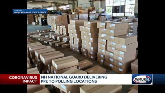 NH National Guard delivering PPE to polling stations