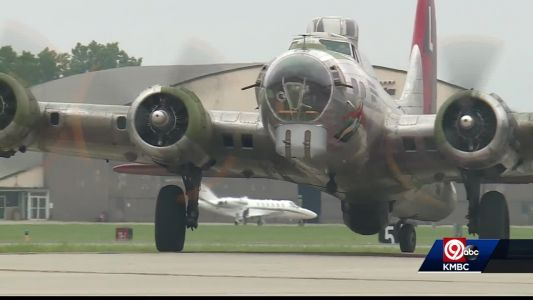 B-17 Flying Fortress in Kansas City for Memorial Day weekend