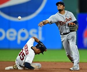 Indians rout Tigers in combined one-hitter
