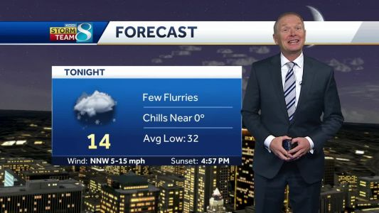 Flurries fly in chilly evening forecast