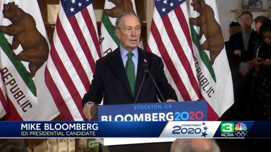 Presidential candidate Bloomberg comes to Stockton